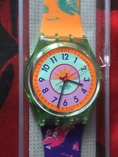Uhr Original SWATCH Gent CURLING (GG117)-NEW/NOS/NEU-lila/orange/Sport-schön!!!