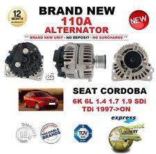 FOR SEAT CORDOBA 6K 6L 1.4 1.7 1.9 SDi TDi 1997->ON NEW 110A ALTERNATOR UNIT
