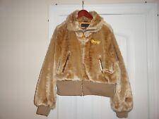 Coogi Gold Snakeskin Print Zip Up Fur Coat Satin Lining Size 3X