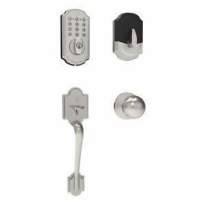 Turbolock Front Door Lock Set Digital Deadbolt Keypad + Entry Handle TL114+121