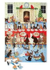 Wentworth Puzzle Getting Together Cat's Christmas Dinner Puzzle 250pc New in Box
