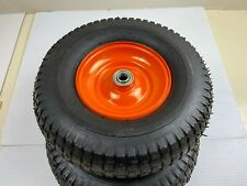 """More details for pre owned 13"""" spare pneumatic wheels 2 pack for garden trolley carts hand trucks"""