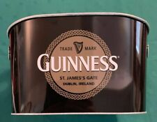 Guinness Beer Bucket Oval Bar Ale Metal Barware Used Nice Condition