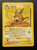 Pokemon Card - Fossil Set Raichu 1st Edition Rare 29/62 - Near Mint | PSA?