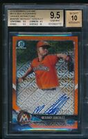 BGS 9.5 AUTO 10 MERANDY GONZALEZ 2018 Bowman Chrome ORANGE REF RC TRUE GEM MINT