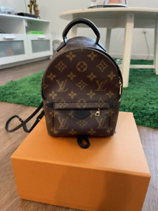 Louis Vuitton Palm Springs Mini Monogram Canvas Backpack Brown