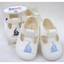 BABY BOYS BAYPODS PRAM SHOES BABY BLUE-WHITE-NAVY BAY PODS SAILOR THEME REBORN