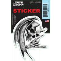 LETHAL THREAT Motorcycle Motorbike Bike Car Laptop Skatebord Decal Helmet Sticker for Outdoor Use RACE FLAG LT88562