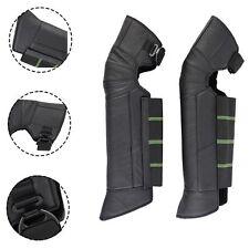 Motorcycle Racing Rider's Leg Knee Leather Pad Shin Armor Protector Guard Gear