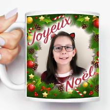 "Mug, Tasse en céramique ""Joyeux Noël"" avec Photo Personnalisée (MUG009)"