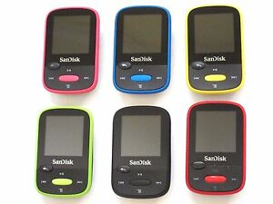 SanDisk Sansa Clip Sport 8GB SDMX24 FM Radio MP3 Player Color Choose