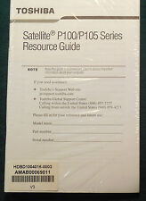 Toshiba Satellite P100/P105 Resource Guide