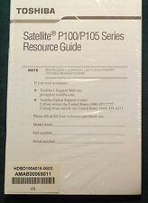 Toshiba Satellite P100/P105 Resource Guide
