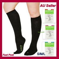 Korjo 17-20mmHg Medical Compression Socks Support Stockings Travel Flight Socks
