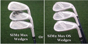 TaylorMade's 2021 SIM2 Max & Max OS Matching Approach/Sand/Lob Wedges Choose NEW