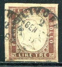ITAL SARDINIEN 1858 15 gest 3 LIRE BREITRANDIG 3200€ (Z0725