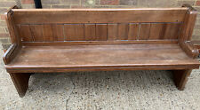 Small Church Pew Bench, Pitch Pine, Settle Antique Vintage Seating Chair Dining