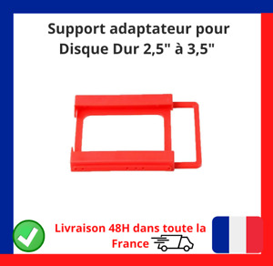 """Support Montage adaptateur pour Disque Dur HDD SSD Rack 2,5"""" Vers 3,5"""" Neuf FR✅✅"""