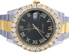 Rolex Datejust II 41MM 116333 18K/ Steel Two Tone Oyster Diamond Watch 8.5 Ct