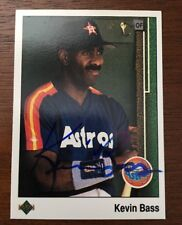 KEVIN BASS 1989 UPPER DECK AUTOGRAPHED SIGNED AUTO BASEBALL CARD 425 ASTROS
