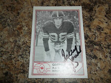 1983 JOGO CFL FOOTBALL GERRY JAMES AUTOGRAPHED HOF B # B-21 KID DYNAMITE
