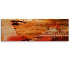 Leinwandbild Panorama rot orange braun creme Paul Sinus Abstrakt_758_150x50cm