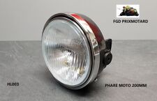 PHARE MOTO UNIVERSEL ROND 200MM