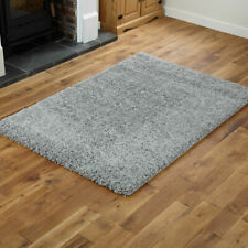 Silver Soft Quality Shaggy Large Rug 5cm Thick Non Shed Modern Rugs Carpet Mats