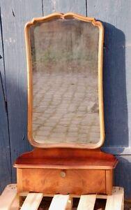 Louis Philippe Wandspiegel um 1900 - mit Ablage und Klappfach - Spiegel