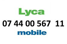 LYCA MOBILE GOLD NUMBER VIP BUSINESS EASY DIAMOND PLATINUM PHONE SIM CARD