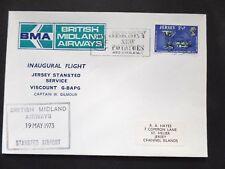 British Midland Airways 1st Flight Jersey to Stanstad and Return 19/05/73
