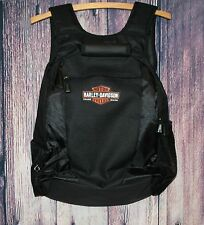 "NEW Harley-Davidson Backpack Black Canvas 18"" Padded Laptop Reinforced Bottom"