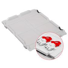 Scharnierdeckel Set Eurobox NextGen – 400 x 300, inkl. 2 rote Schiebeschnappvers