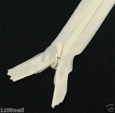 """ivory 10"""" / 25.5 cm. Closed End Invisible Zipper by 10 Zippers"""