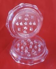 Clear, Acrylic Shark Tooth Herb Grinder [ 5cm diameter ] Without magnet