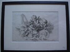 """FRANCOIS BOUCHER ESTAMPE XVIIIè """"la peinture"""" grav;G.HERBEL"""