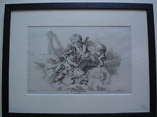 "FRANCOIS BOUCHER ESTAMPE XVIII�� ""la peinture"" grav;G.HERBEL"