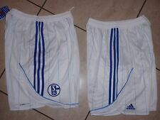 Neue S 04 Schalke Adidas Hose Größe XXL weiß  / blau