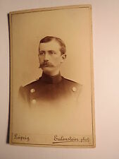 Leipzig - Leutnant der Reserve Walther Degen als Soldat in Uniform / CDV