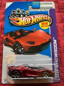 Hot Wheels Lamborghini Aventador J Red Htf