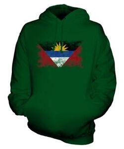 Antigua e Barbuda Bandiera Effetto Consumato Felpa Unisex Top Antiguan Barbudan
