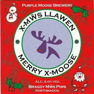PURPLE MOOSE BREWERY - MERRY X-MOOSE - (PUMP CLIP FRONT)