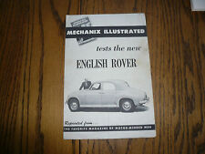 Mechanix Illustrated Tests English Rover - McCahill Tests English Rover