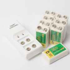 8Pcs 300mAh 9V BTY NI-MH Rechargeable Battery With 2 Slot 9V Special Charger Set