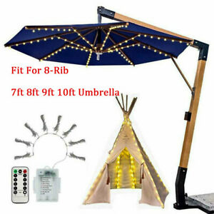 104 LED Umbrella Lamp Night String Light Patio Yard Garden Lawn light Outdoor