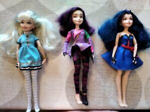 Disney descendants dolls bundle. Mal, Evie, Ally