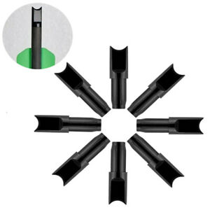 "50/100pc Archery Arrow Nock Half-moon OD7.6mm For 15""/7.5"" Bolt Hunting"