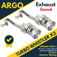 Exhaust Tailpipe Whistler Whistle Blow Off Loud Sound Sport Car Tip Pipe Race x2