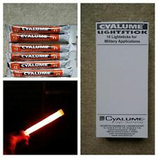 "10 X CYALUME ARMY - ISSUE 6"" GLOW STICKS - NEW - ORANGE - CYALUME - 12HR"