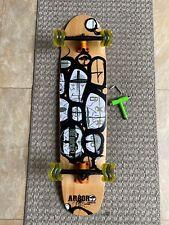 "Arbor Hybrid Bamboo Trickboard Shape Longboard 38""X9"" Shark Zflex New"